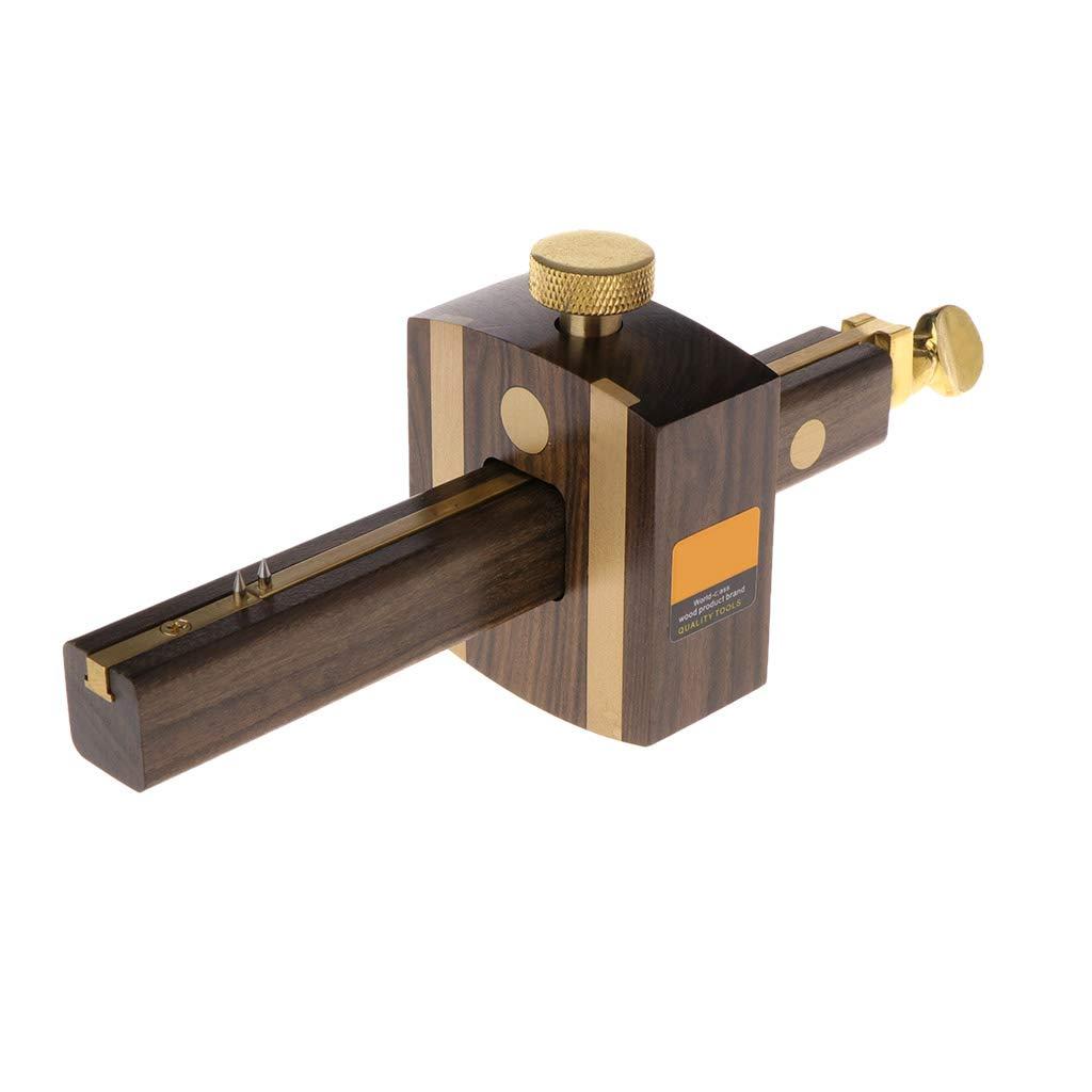 CHBC Mortise Gauge, Black Ebony Marking Gauge Woodworking Marker Sliding Mark Scraper Adjustable Head Meter Marker of Screw Type Woodworking Tool