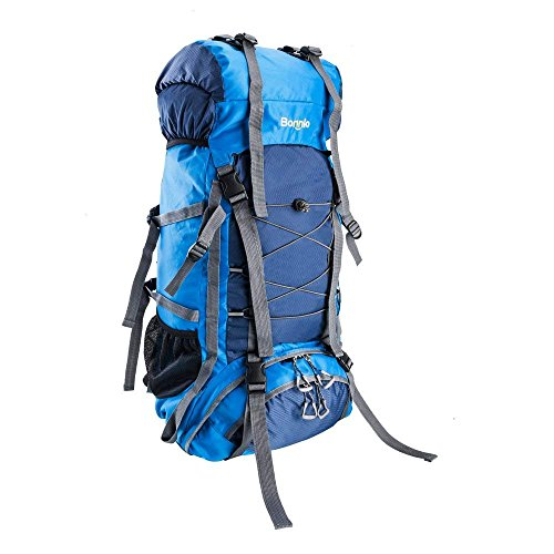 - Z ZTDM Bonnlo 60L Hiking Backpack, Inner Frame Backpack, Travel Daypack with Rain Cover, Upgraded, High-Performance Packs, Large Capacity Waterproof, for Outdoor Sports Climbing(Light Blue)