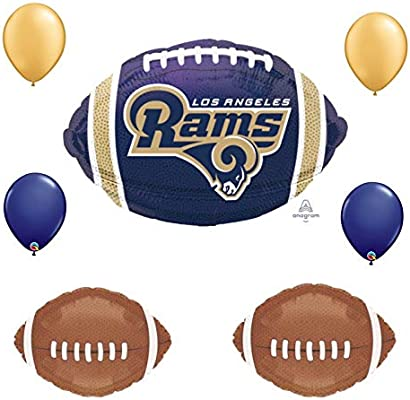Amazon Los Angeles Rams 7 Piece Balloon Bouquet Football Super Bowl Birthday Party Decorations Health Personal Care