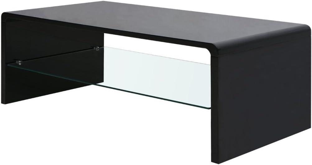Festnight Table Basse Haute Brillance 110 x 55 x 43 cm