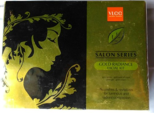 VLCC Saloon Series Gold Radiance Facial Kit (6 Set Kits contains sachets for 6 Facials) SD - With Free Expedited Shipping and Complementary Gifts!!