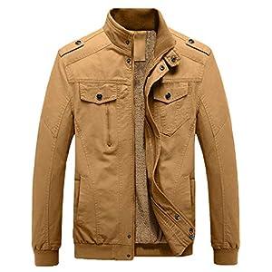 GEMYSE Veste Militaire Coton Hiver Parka Épaissir Polaire Outwear Manteaux pour Hommes