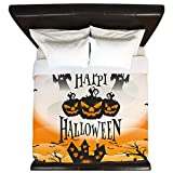 King Duvet Cover Happy Halloween Ghosts Pumpkins