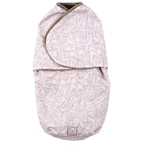 Kushies Baby Swaddler Blanket, Pink