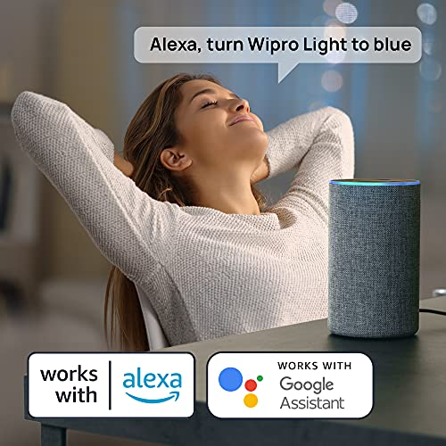 Wipro 12.5-Watt B22 Wi-Fi Smart LED Bulb with Music Sync (16 Million Colors + Warm White/Neutral White/White) (Compatible with Amazon Alexa and... 6