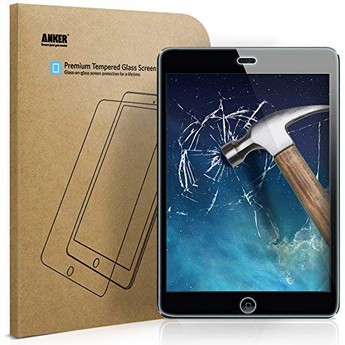 3 Screen Protectors Premium (Anker Tempered-Glass Screen Protector for iPad Mini/iPad Mini 2 / iPad Mini 3 with Retina display - Premium Crystal Clear w/ (Not compatible with iPad Mini 4))