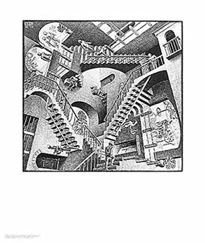 Relativity Art Poster Print by M. C. Escher, 22x26 - Escher Check