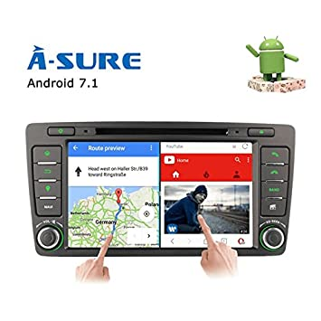 ASure 7inch Android 7 1 2 GPS Navigation DVD CD Player: Amazon co uk