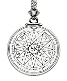Handmade Talisman of Mercury 3rd, 4th Pentacle Key of Solomon Seal Pewter Power Pendant ~ Wisdom, Opportunity (with 22 inch Chain)