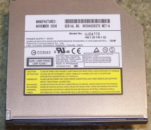 Panasonic UJDA770 Laptop DVD CDRW Combo Drive Ide - Internal