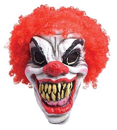 Horror Scary Clown Foam Halloween Fancy Dress Mask Accessory & Hair by Parties Unwrapped -