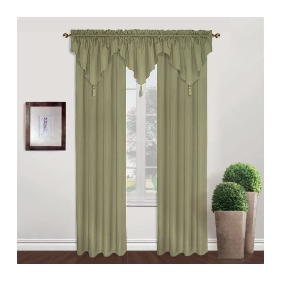 United Curtain Sterling Woven Window Curtain Panel, 40 by 63-Inch, Sage - Sold As Separates Fabric Content: 100% Polyester Care Instructions: Machine Wash Cold, Tumble Dry Low, Cool Iron, Never Bleach - living-room-soft-furnishings, living-room, draperies-curtains-shades - 51dUw1dYF6L. SS570  -