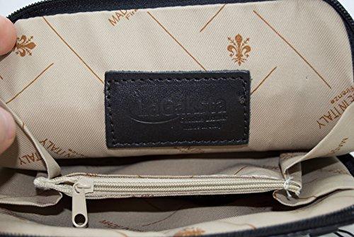 Leather Crossbody Small LaGaksta Italian Light Handmade Bag Red Flat zqSqHI