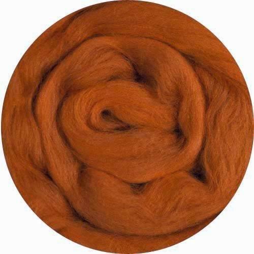 1 Ounce Rust Merino Wool Roving for Felting