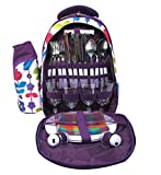 YetCHAN 4 Person Insulated Picnic Backpack with Flatware sets