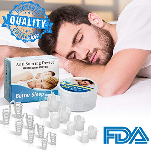 Snoring Solution,Anti Snoring Devices Snore Stopper 8 Set Stop Snoring Nose Vents Nasal Dilators Best Snoring Aids Stop Snoring Devices Snore Reducing Sleep Aids for Ease Breathing Men Women (White)