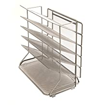 Seville Classics Legal Size Office Desk Organizer with 6 Mesh Trays