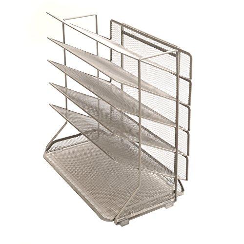 Seville Classics 6-Tray Iron Mesh Office Vertical Desktop/Wall Mount Organizer, Legal/A4 (Safco Wall Mount)