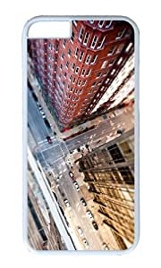 MOKSHOP Adorable city streets tilt shift Hard Case Protective Shell Cell Phone Cover For Apple Iphone 6 (4.7 Inch) - PC White