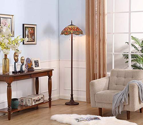 Bieye L11404-3 18-inches Tiffany Floor Lamp,