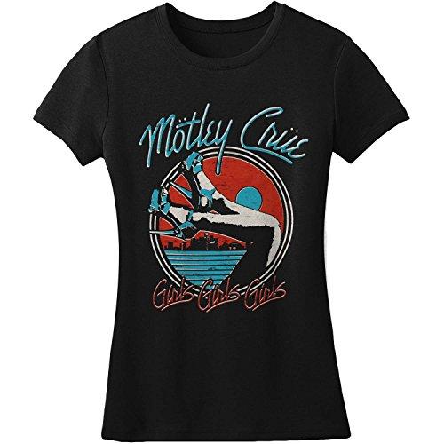 (Motley Crue Heels V3 Girls Jr Soft tee X-Large Black)
