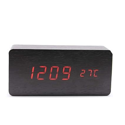 Mifusanahorn Reloj Despertador con Cargador USB y Mesa de ...