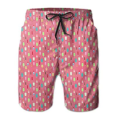 Nice Popsicle Party Food Pattern Men Quick Dry Breathable Swim Trunk Cargo Shorts hot sale