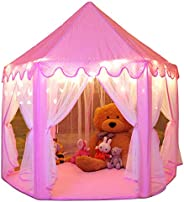 Monobeach Princess Tent Girls Large Playhouse Kids Castle Play Tent with Star Lights Toy for Children Indoor a