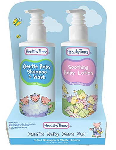 Healthy Times Gentle Baby Shampoo & Wash/Soothing Baby Lotion Gift Set