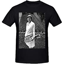 NIWAHO Personalized Helen Wills Moody T shirts Cotton O neck Men Black