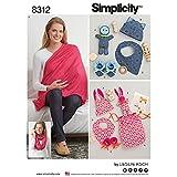 Simplicity Creative Patterns US8312OS Knit Baby Gifts & Nursing Shawl