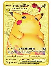 Japanse versie Charizard Pikachu Cosplay Pokemon Vmax V GX ex Shiny Gold Metal Card Game Tag Team Child Christmas Gift