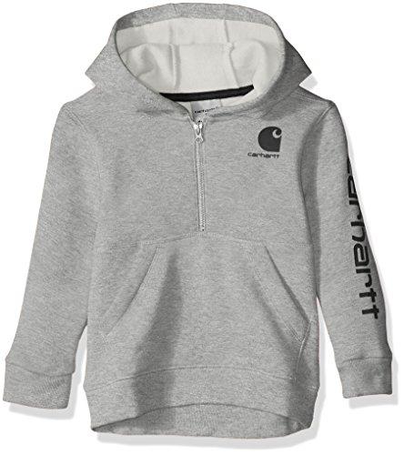 er Hooded Half Zip Sweatshirt, Grey Heather, 4T ()
