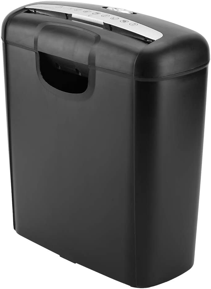 6-Sheet Paper Shredder for Home Micro-Cut Paper Shredder High-Security Cross Cut Paper Shredder for Office Portable Credit Card Shredder with 2.6 Gallons Wastebasket Black