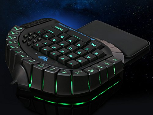 b7a0c984c44 AULA Excalibur Master One-hand Gaming Keyboard Removable Hand Rest RGB  Backlight Ergonomic Gamer Keyboard