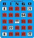 Regal Games 100 Jumbo Easy Read Blue Fingertip Shutter Slide Bingo Cards
