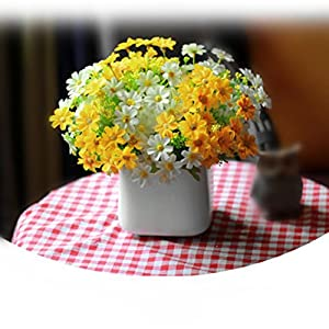 Artificial Silk Fake Flowers Small Daisy Wedding Bouquet Party Home Decor By Orangeskycn 7