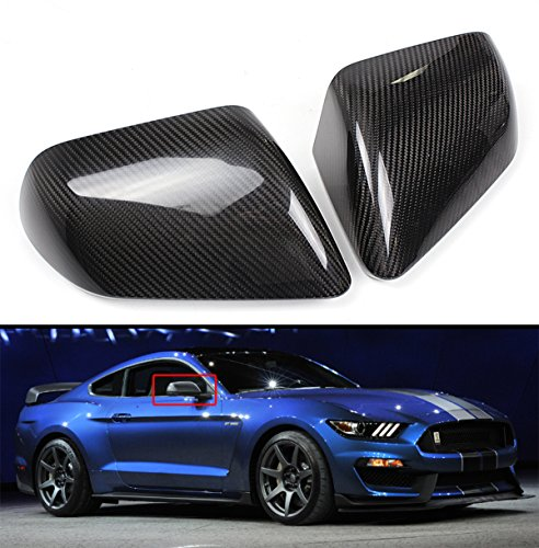 Cuztom Tuning Fits for 2015-2019 Ford Mustang S550 Direct Add-on Carbon Fiber Side Mirror Cover CAPS-for Model W/O LED Signal (Mustang Mirror Covers)