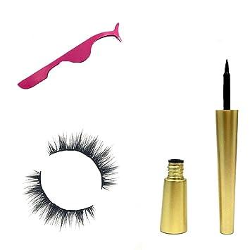 31037f78160 Matoen Magnetic Liquid Eyeliner Set +Magnetic False Eyelash+Clip Natural  Lasting Fast Drying Super