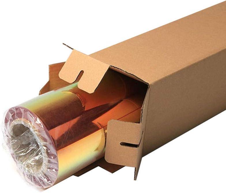 HOHOFILM Neo Chrome Holographic Yellow Heat Transfer Vinyl HTV Vinyl T-Shirt Iron On Film Transfer Lettering Film 20x12