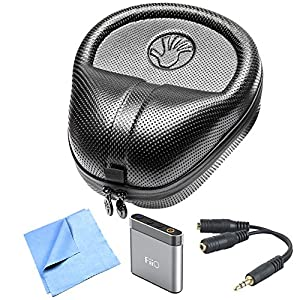 Slappa (SL-HP-07) HardBody PRO Full Sized Headphone Case - Black Includes Bonus M-Audio Bass Traveler Portable Headphone Amplifier, and More