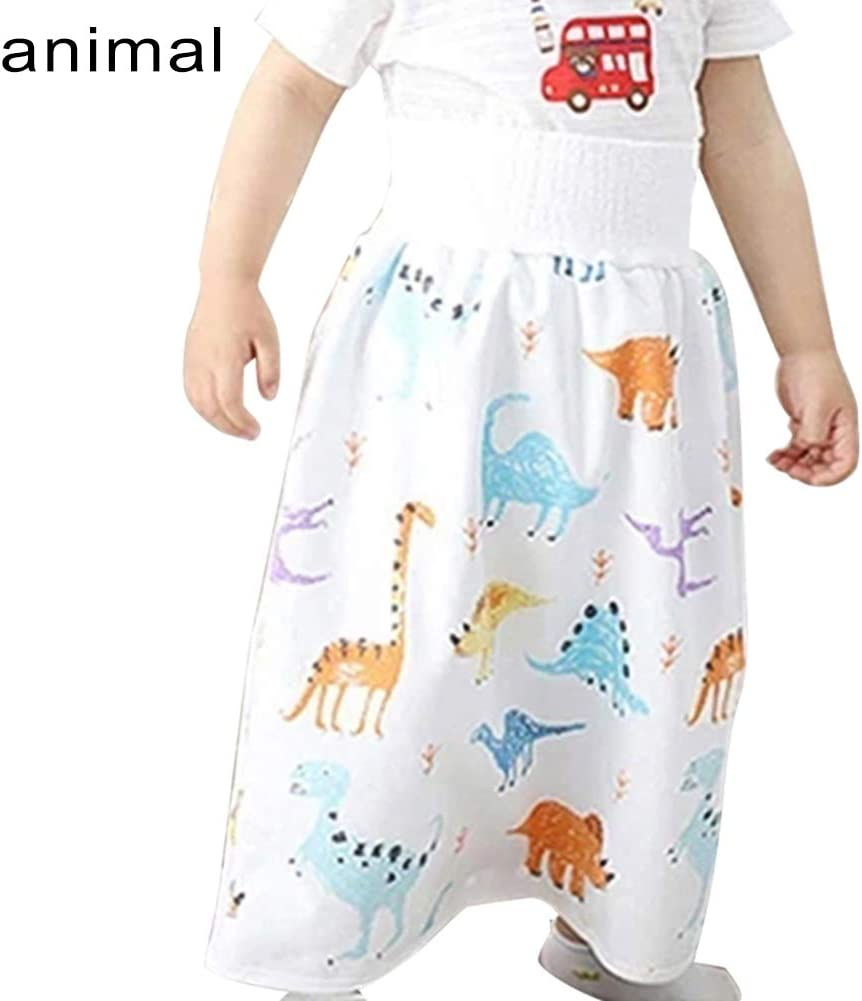 Potty Training Skirt Nappy Skirt Reusable Potty Nappy Pants Waterproof and Absorbent Shorts for Baby Toddler Finetoknow 2 in 1 Baby Diaper Skirt
