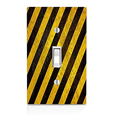 Demon Decal Rustic Black and Yellow Light Switch Plate: Home & Kitchen