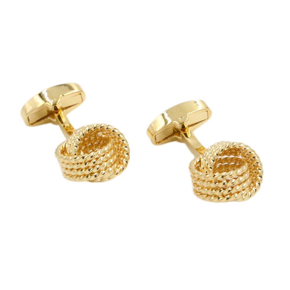 Gold Cuff Links | Gift for Men | Gift Box Included | Golden Link Cufflinks | 5 Year Warranty
