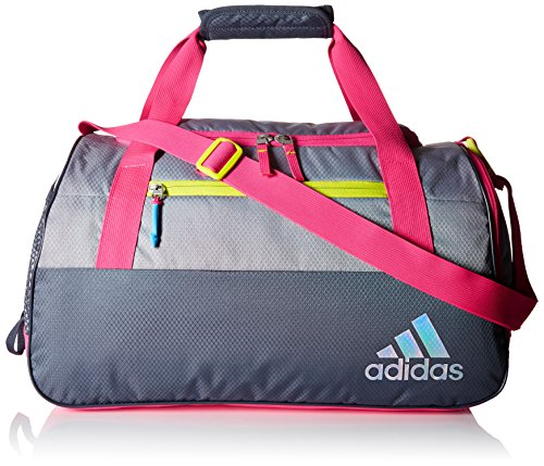 adidas Squad III Duffel Bag, One Size, Deepest Space/Grey/Shock Pink/Shock Slime