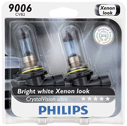 Philips 9006 CrystalVision Ultra Upgrade Headlight Bulb, 2 Pack