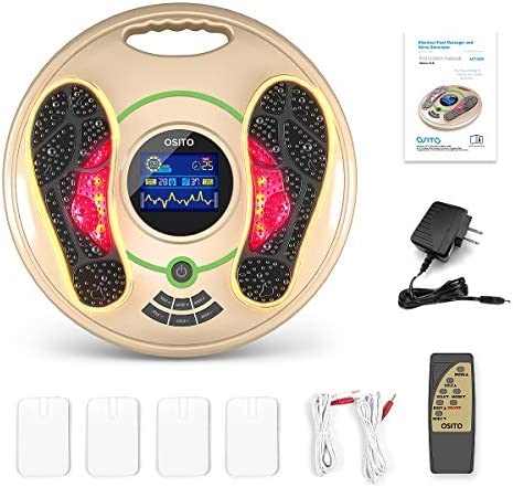 Medical Foot Massager Machine – Feet Legs Circulation Devices Using EMS and TENS Stimulator, Electrical Muscle Pulse Massage Therapy, Electric Foot Reflexology, Relieve Pain for Neuropathy