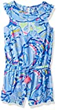 Lilly Pulitzer Girls' Little Azel Romper, Blue peri Pinch, M
