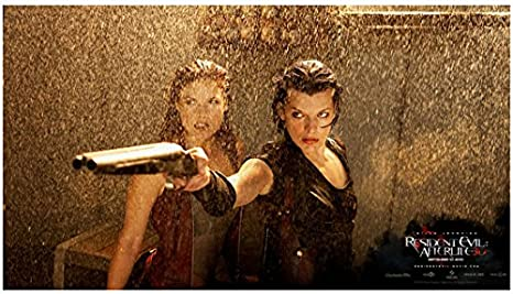 Resident Evil Afterlife 2010 8 Inch By 10 Inch Photograph Ali Larter Milla Jovovich From Waist Up Raining Movie Poster Kn At Amazon S Entertainment Collectibles Store