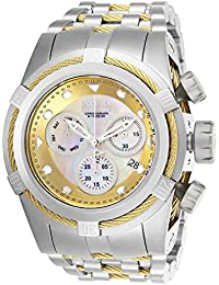 Reserve Bolt Zeus Stainless Steel/Gold Band Metal/Mother of Pearl/Oyster Champagne